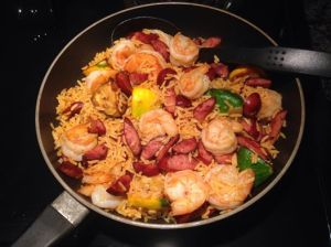 a paella or jumbalya of sorts.....