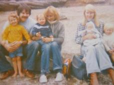 1982 Camping at the lake with Rob and Lynn