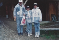 Fishing trip (1990) with the kids - in the rain!
