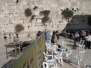 The Western Wall....separate sections for men and women.