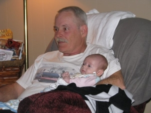 Happy times.....grandpa in his recliner.