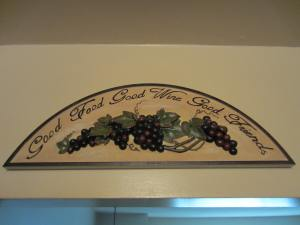 The plaque over the door to my kitchen!  I love it and it's so true......