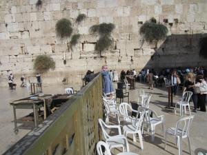 The Western Wall in Jerusalem.  There is a his and hers side!