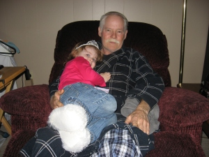 the Princess and her Grandpa....