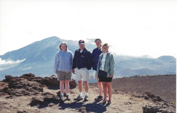 This is the only picture I have of all 4 of us from that trip! It was an early morning trip up to Haleakala.