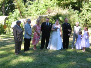 """trying to get the """"receiving line"""" organized.....and not a bad place to have one!"""