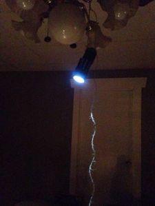 improvised lighting!