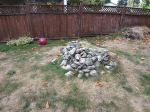 big rocks and boulders.....moving them will be an